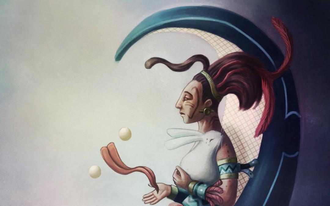 Ixchel, déesse de la lune et de l'arc-en-ciel