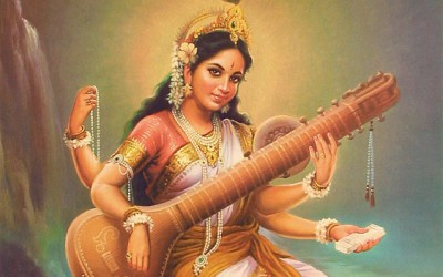 Rite de guérison de la gorge avec Saraswati