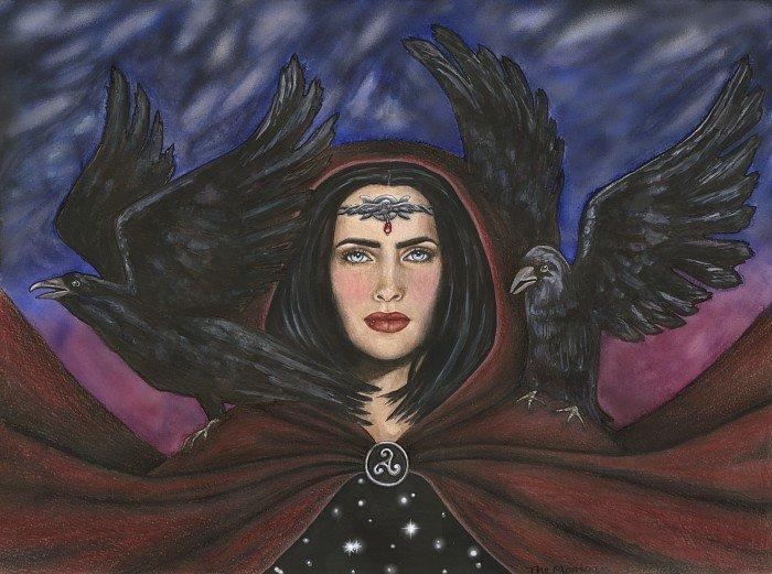 Morrigan Morrighan, Morrigu, Morgan Grande Reine fantôme vue par Rain