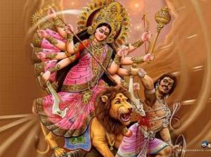 La magnificence de la déesse au lion